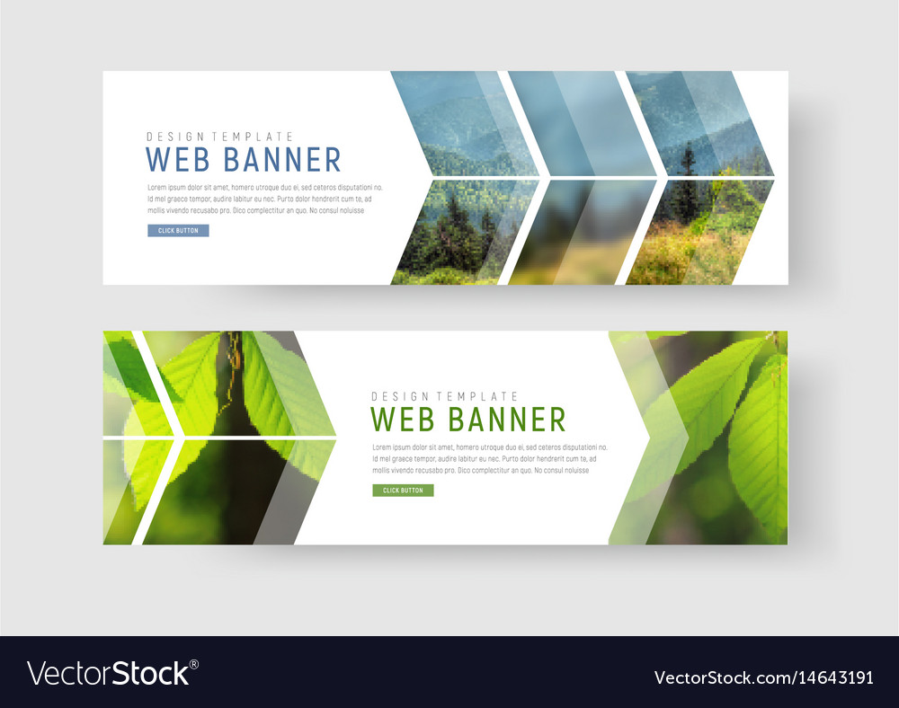 Web banners with a place for photos in the form vector image