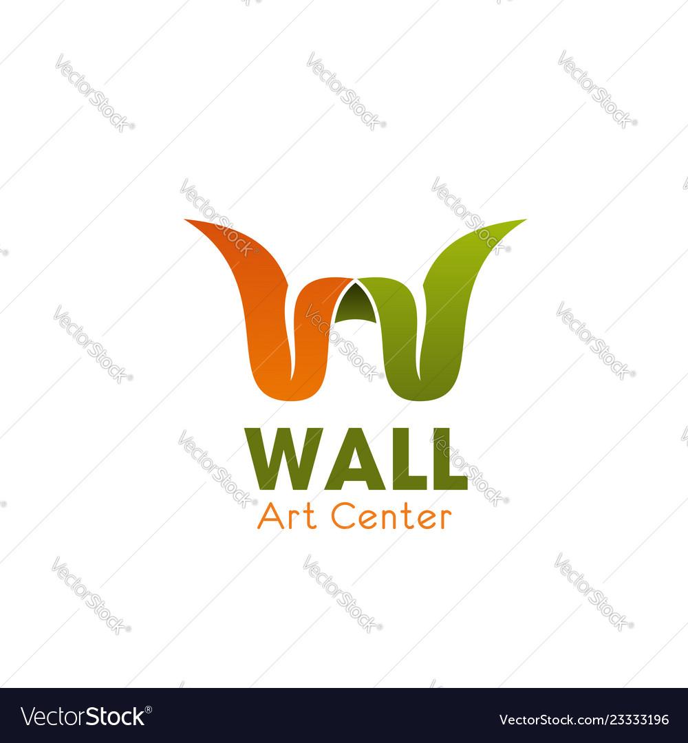 Art center w letter icon