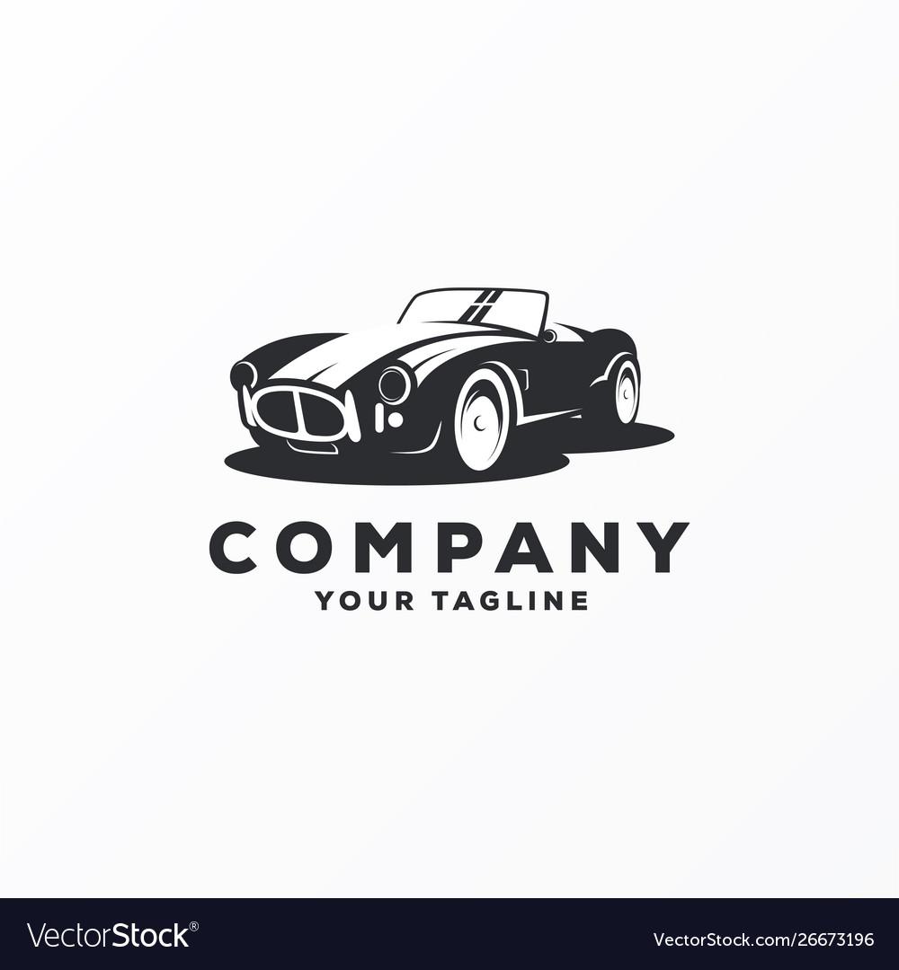 Awesome vintage car logo design