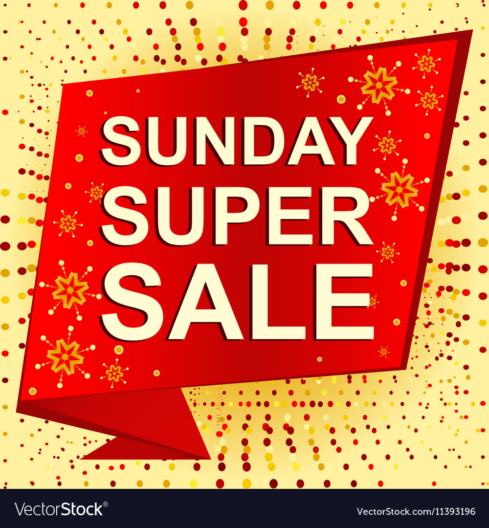 big winter sale poster with sunday super sale text