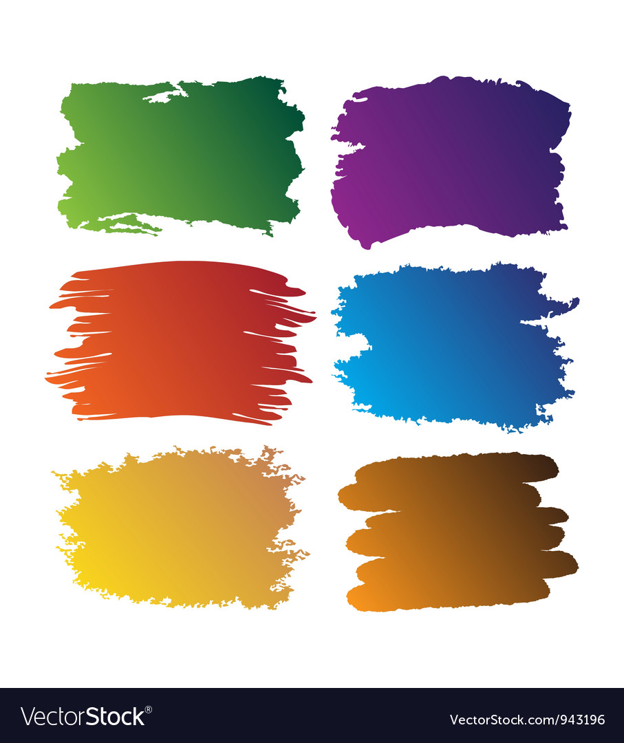 Brush blot vector image