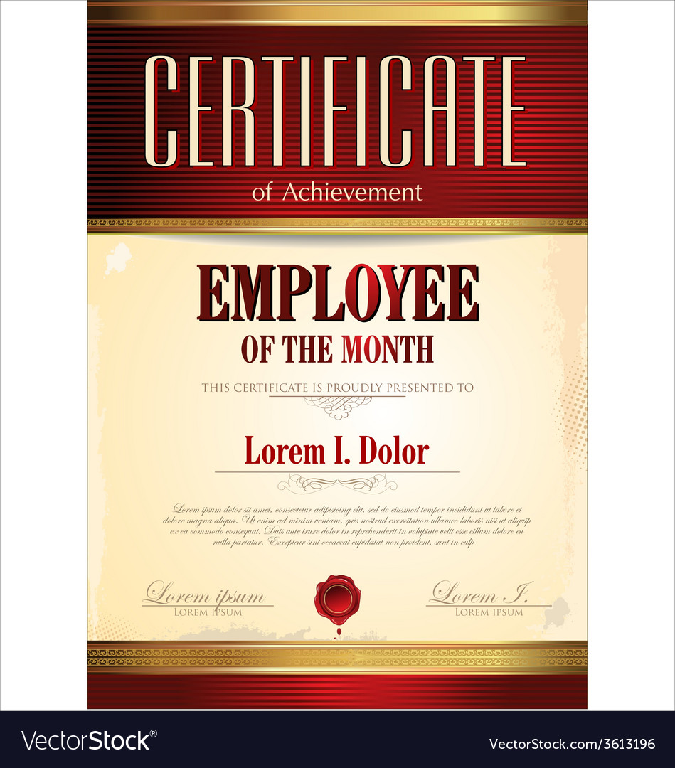 employee of the month award vector images 58