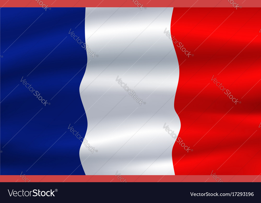 Flag of france waving in the wind 3d