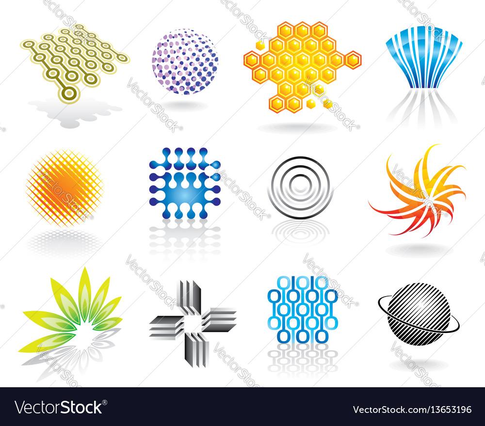 Graphic Symbols Set Royalty Free Vector Image Vectorstock