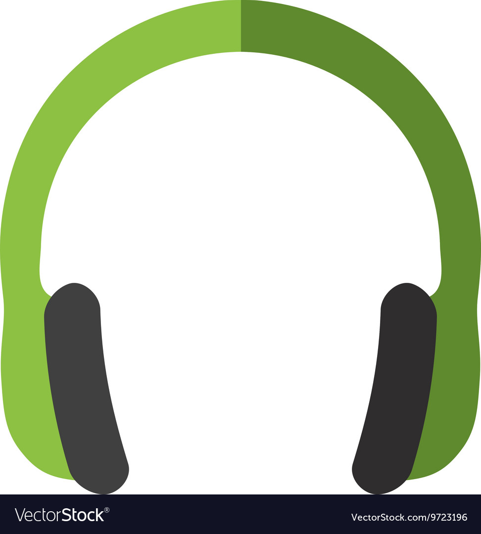Headphone Icon Music Design Graphic Royalty Free Vector Image