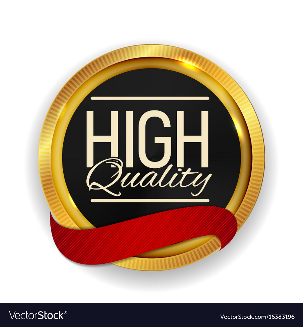High quality golden medal icon seal sign isolate