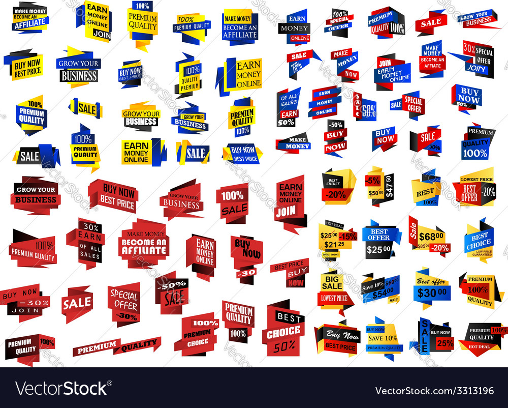 Huge set of retail store and sale banners vector image