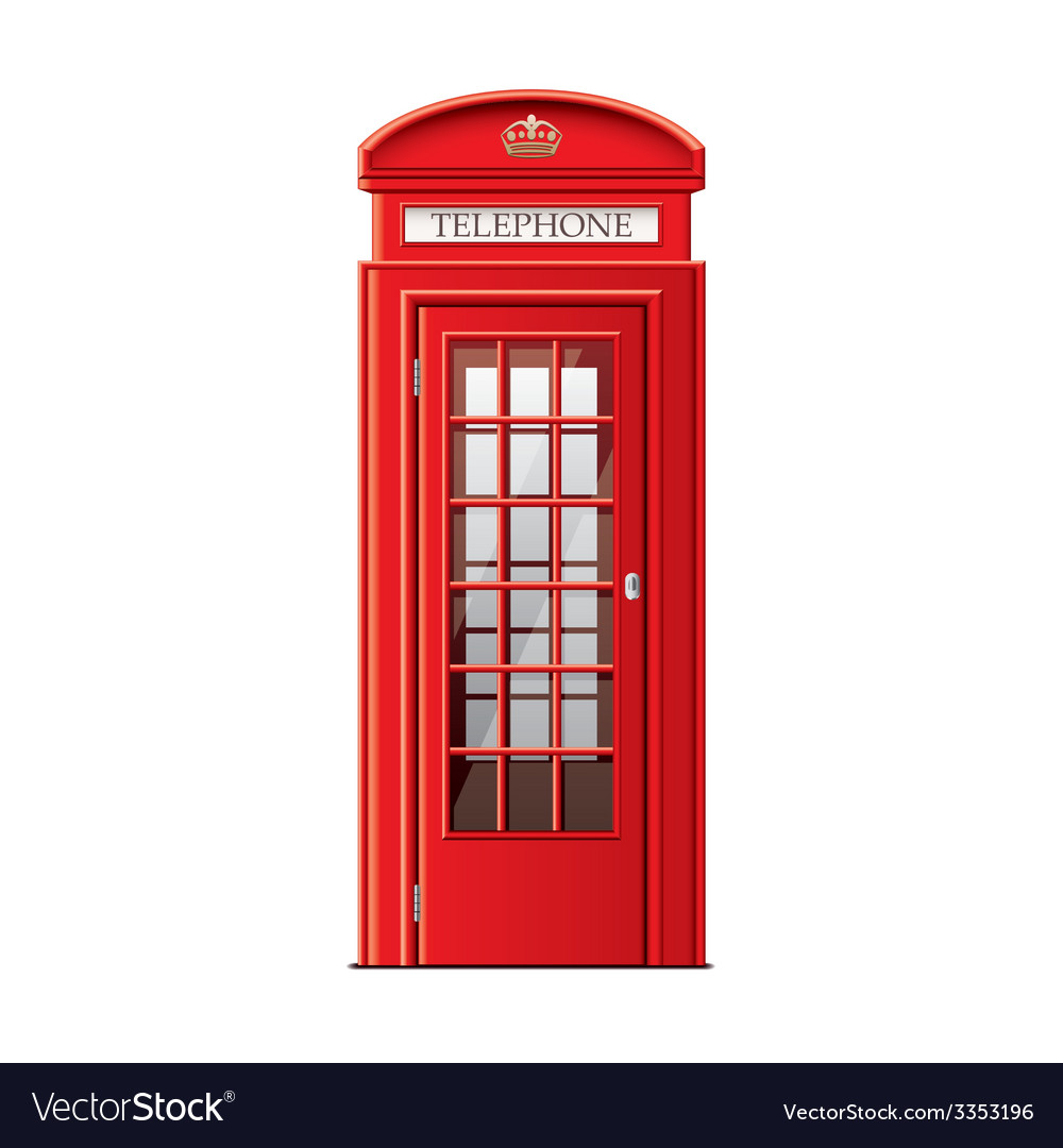 London phone booth isolated