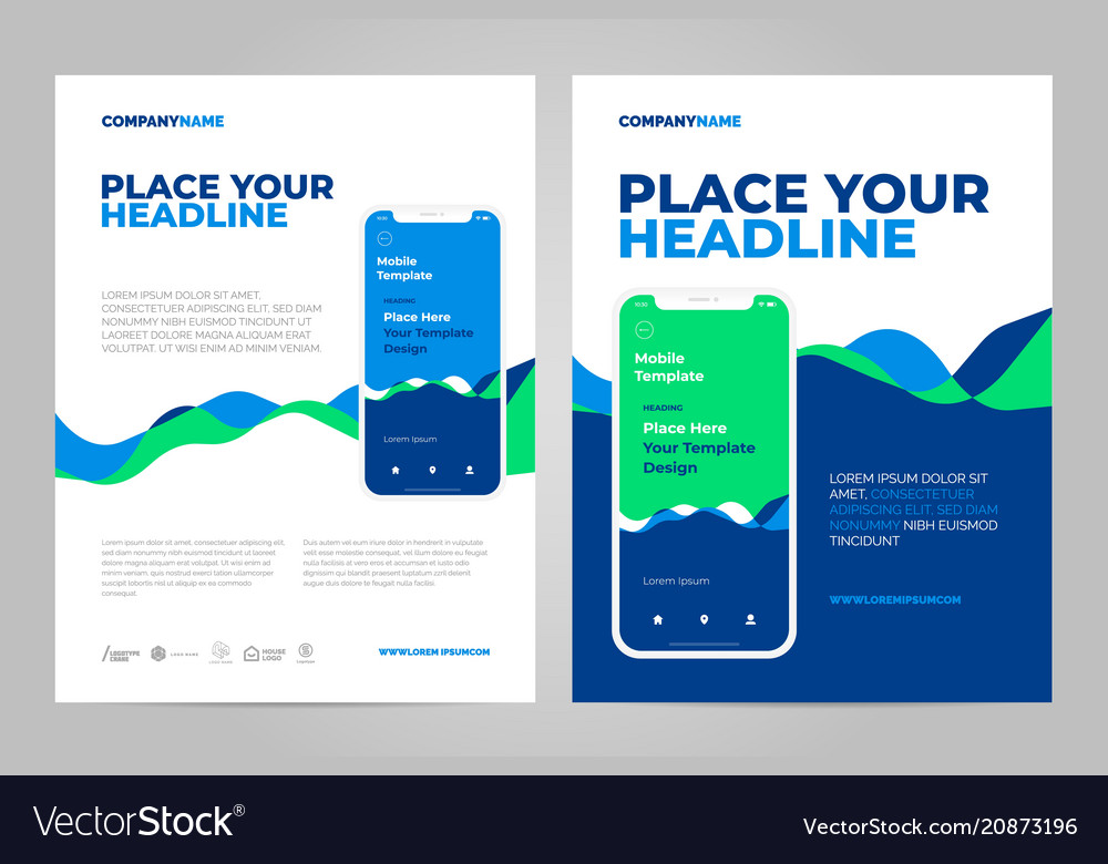 minimal poster template design royalty free vector image