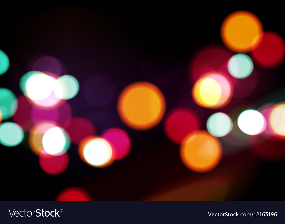 Night Lights Abstract Background Royalty Free Vector Image