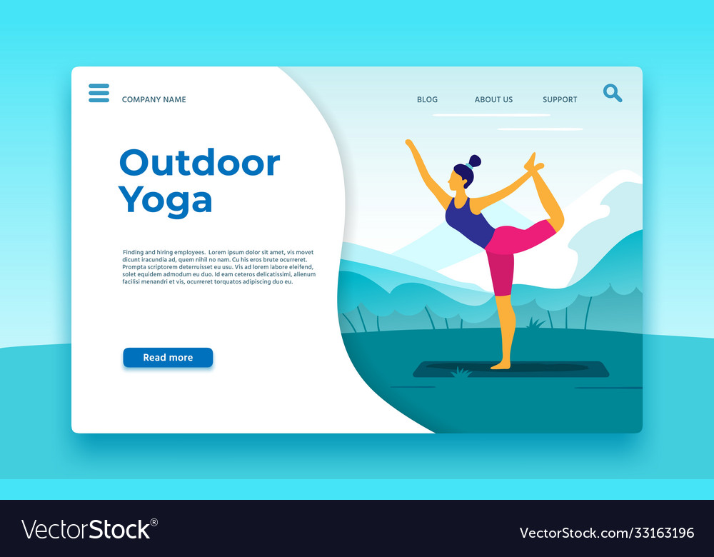 Outdoor yoga classes landing page outdoor banner