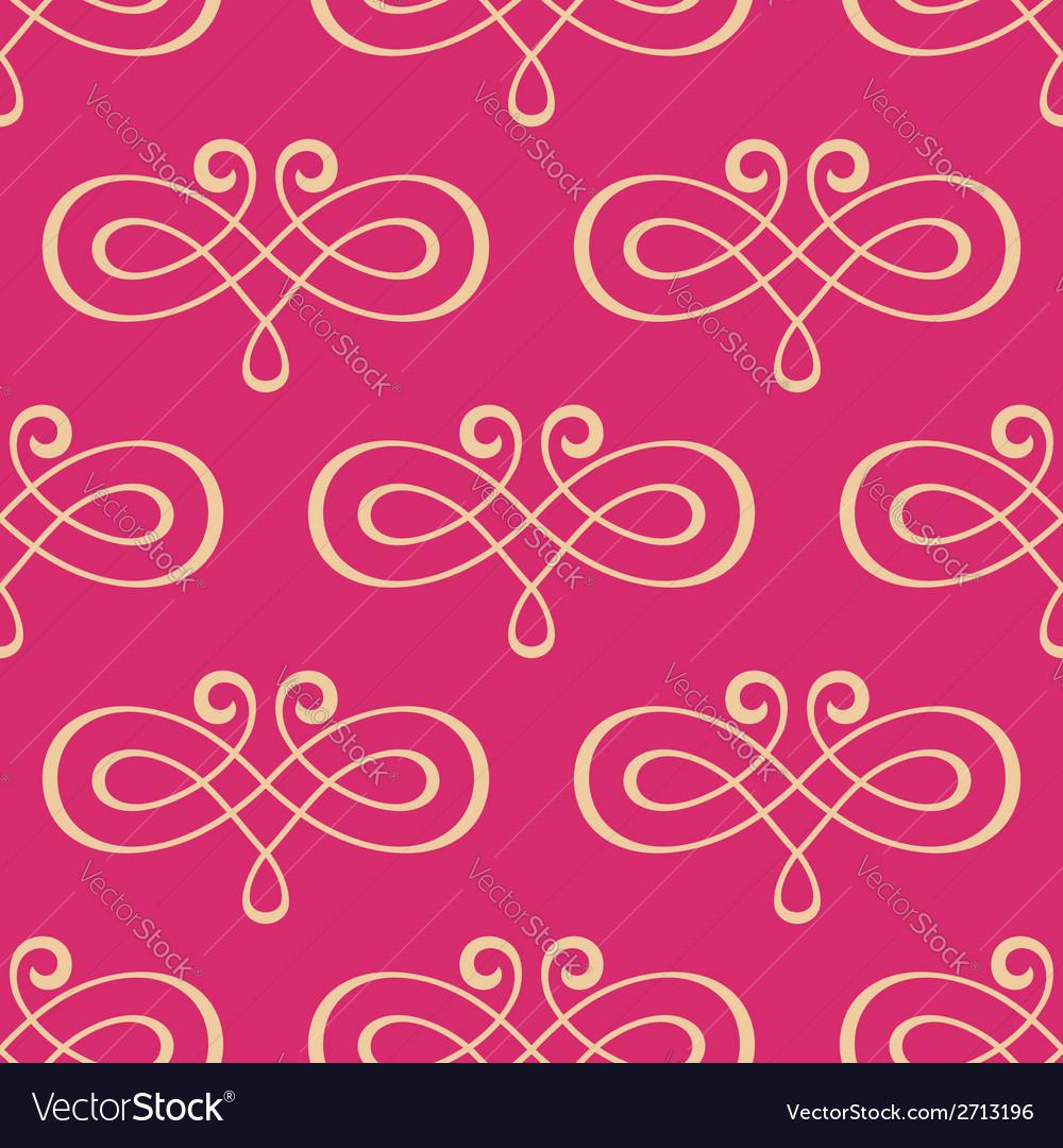 Seamless curly swirl antique motif