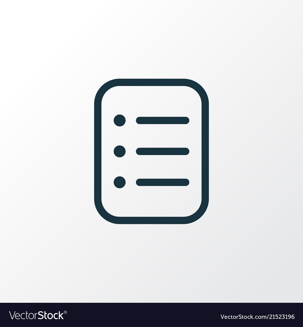 Task list icon line symbol premium quality