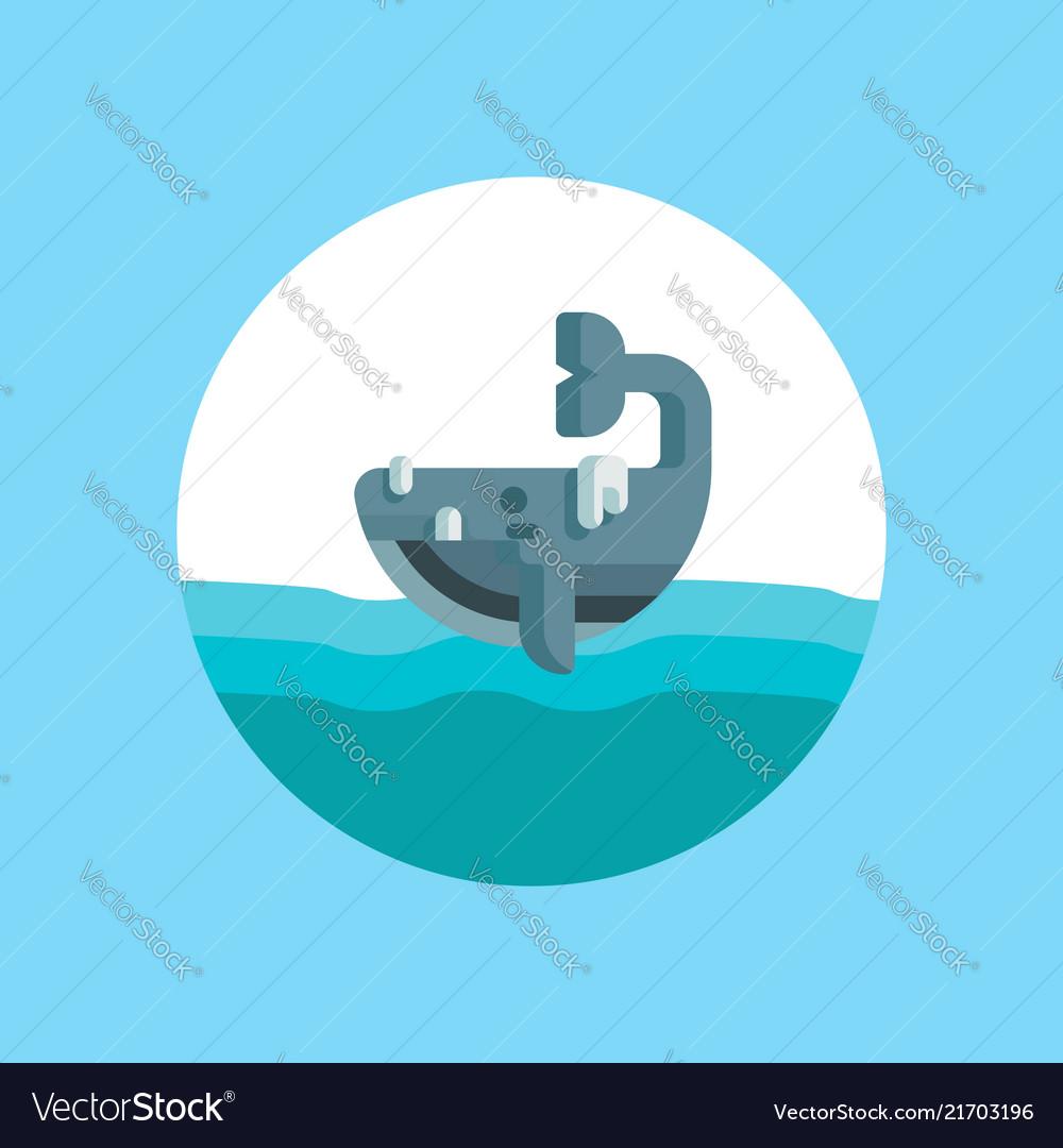 Whale icon sign symbol