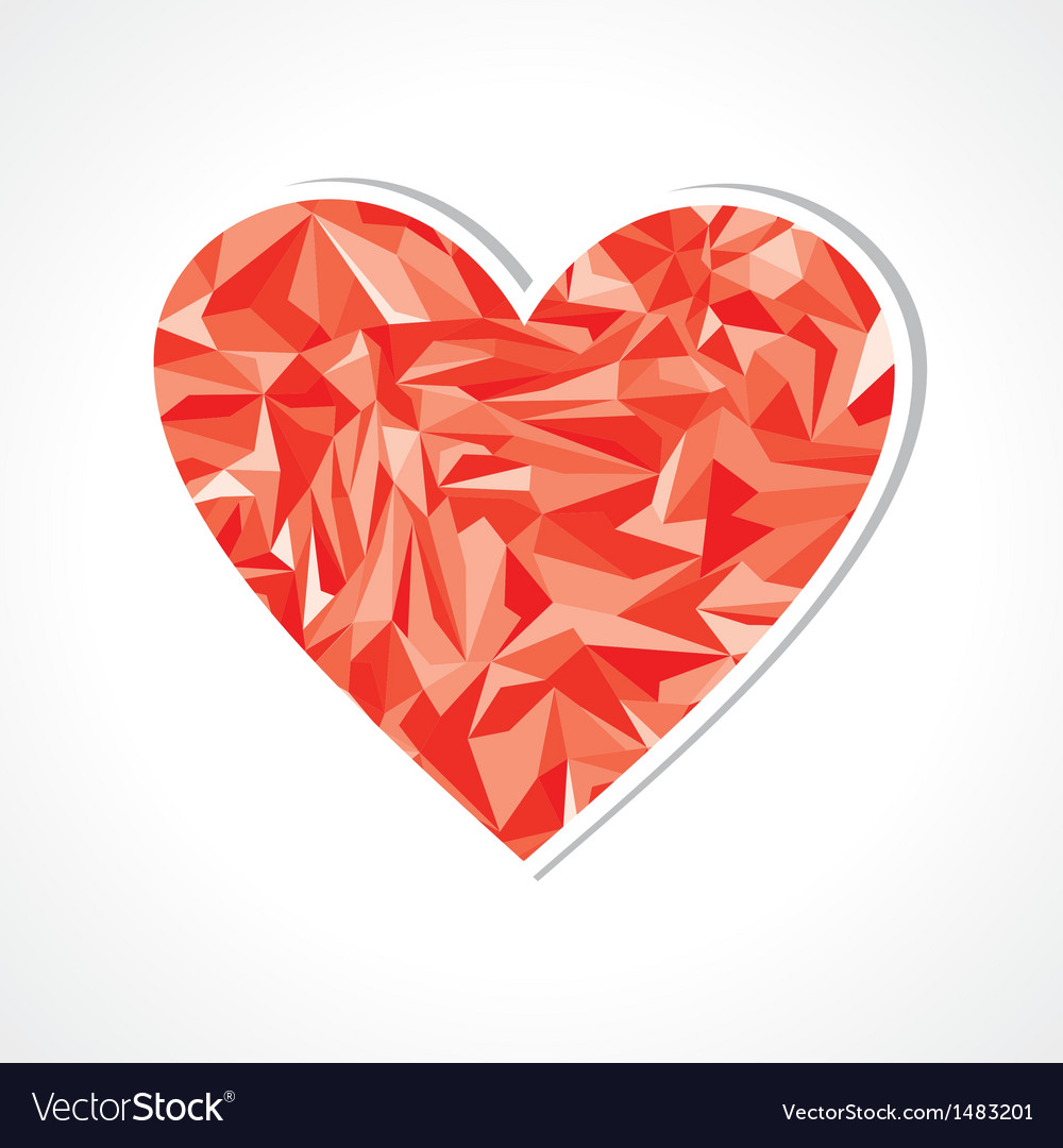Abstract triangle heart symbol