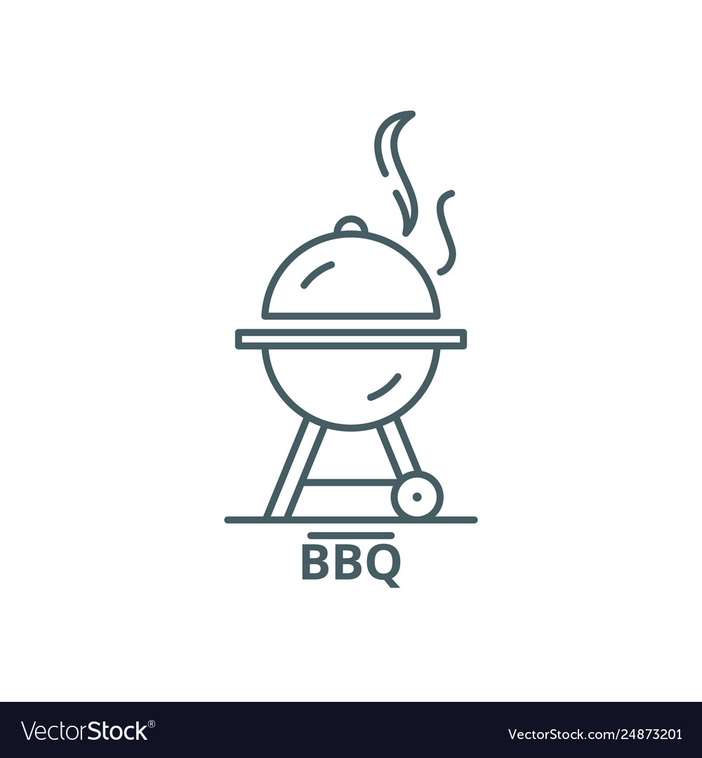 Bbq line icon bbq outline sign concept