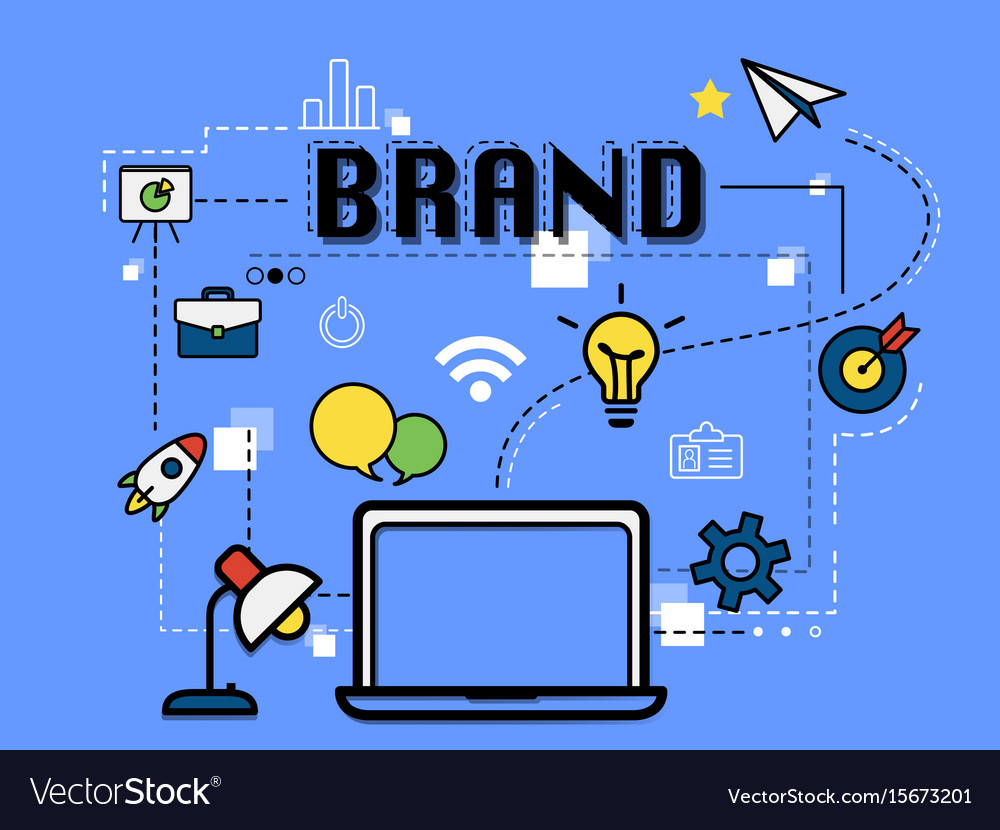 Brand graphic for business concept