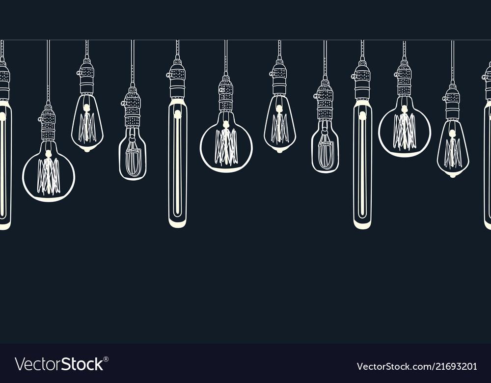Bulb white background