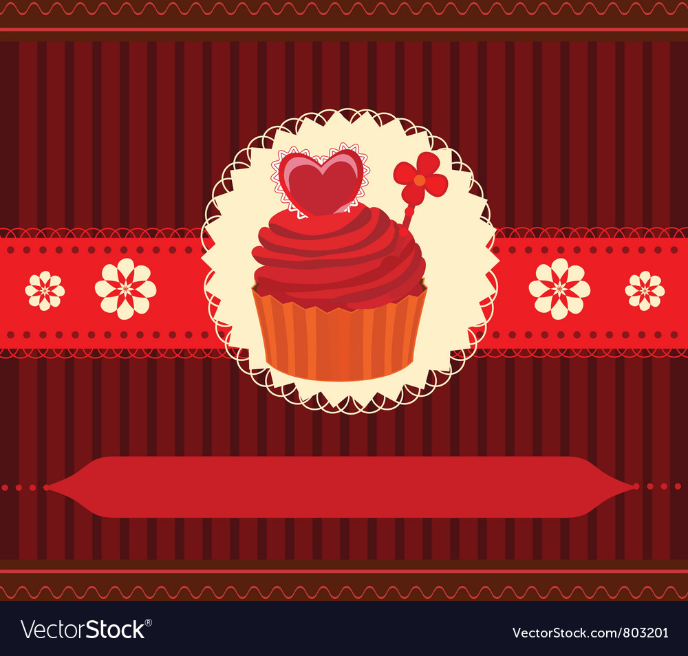 Cupcake invitation card