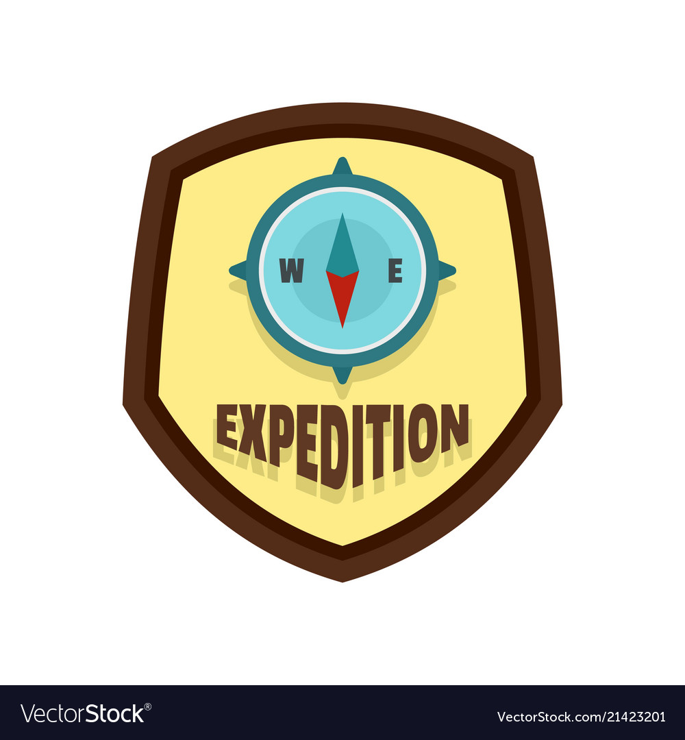 Expedition logo flat style