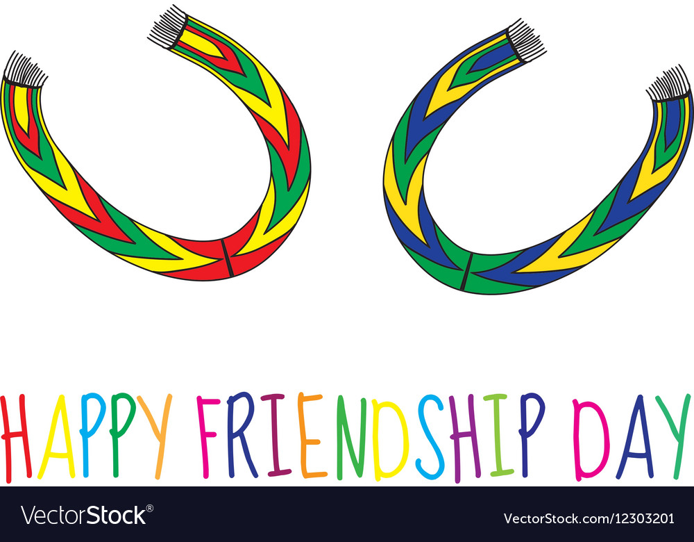 Greeting card with a happy friendship day