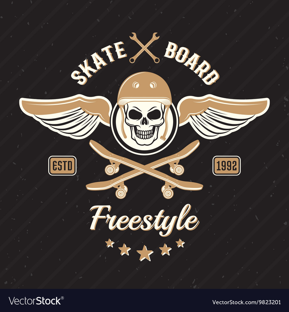 Skateboarding Colored Print