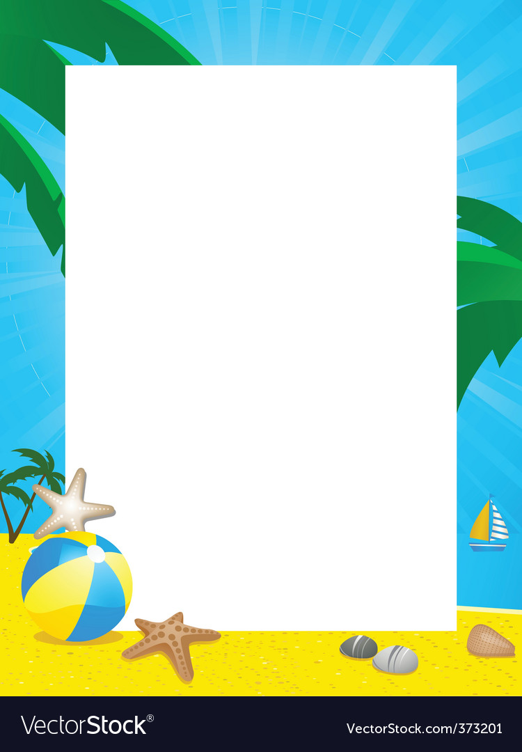 summer border royalty free vector image vectorstock