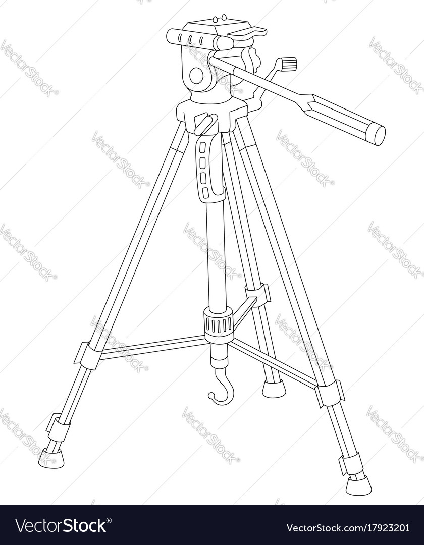 tripod for camera and camcorder royalty free vector image  vectorstock