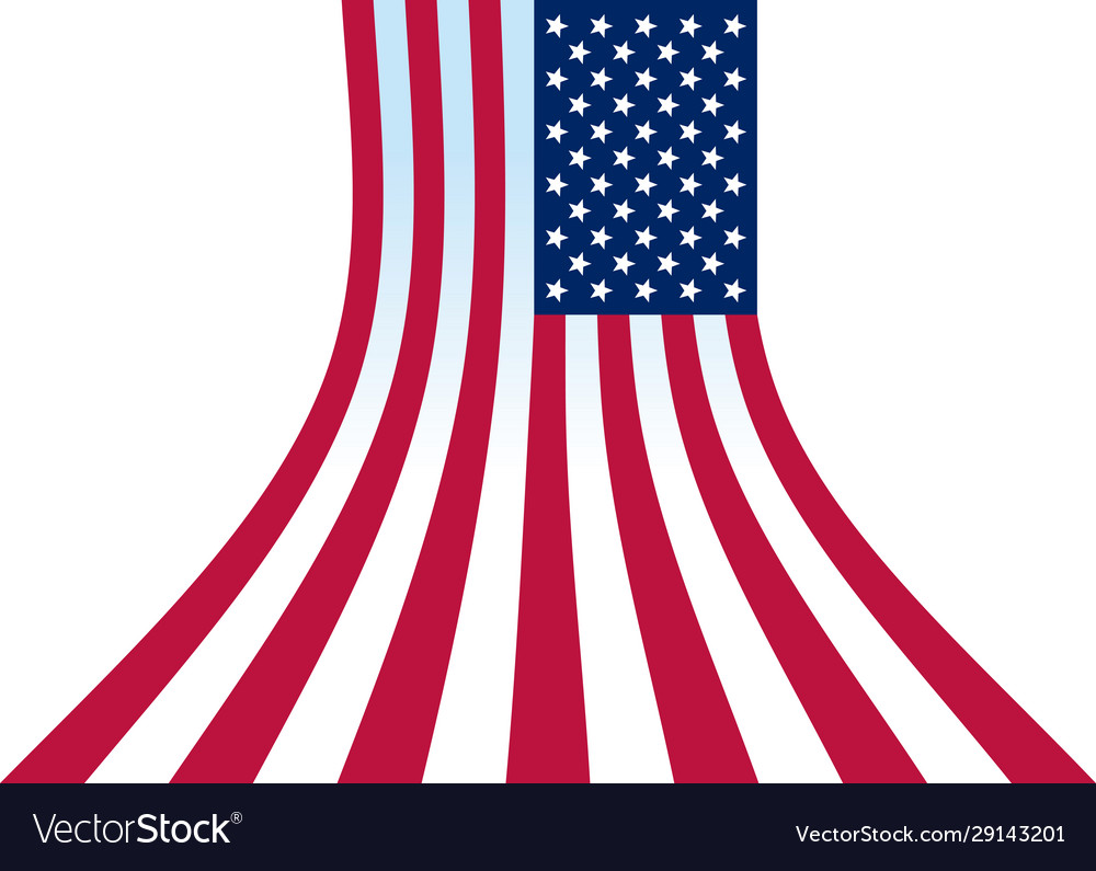 Us flag perspective