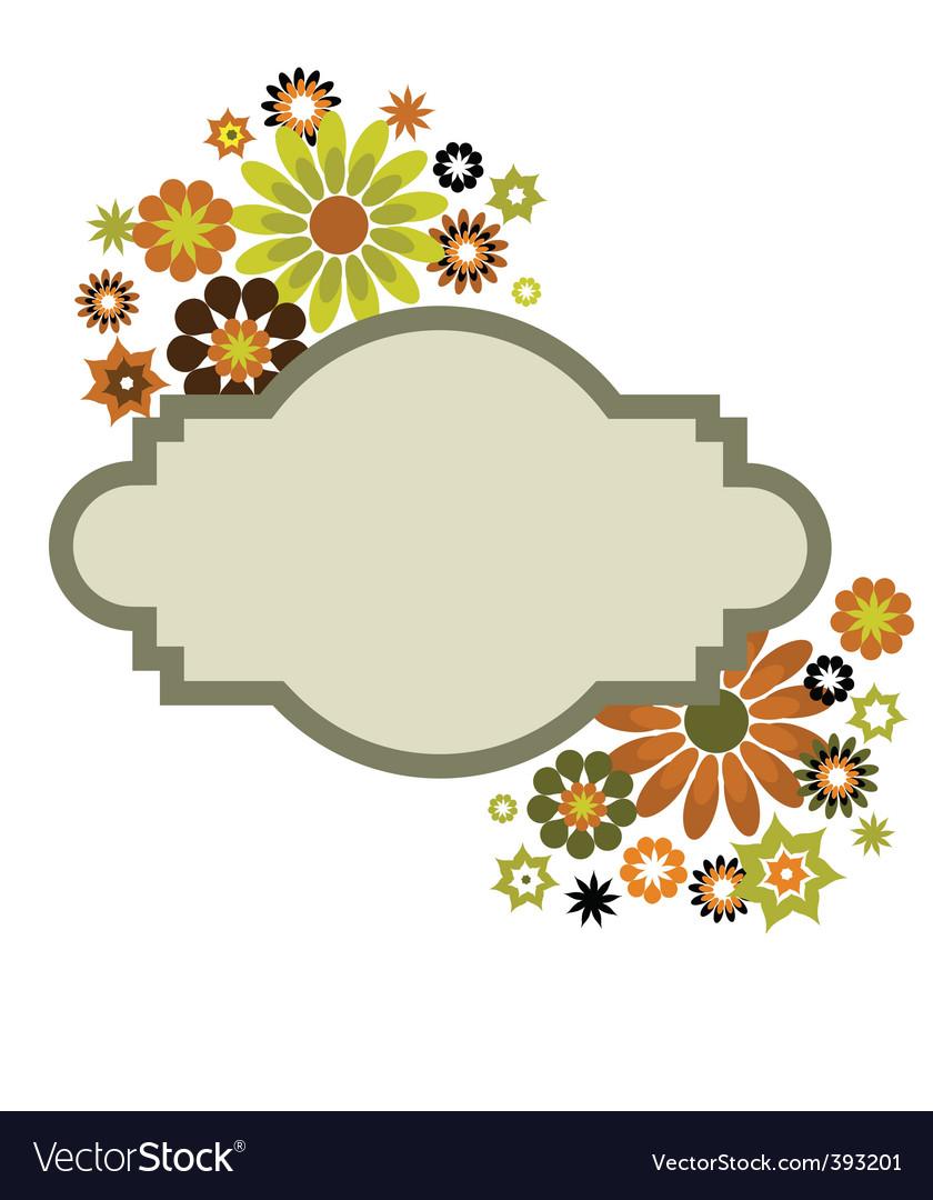 vintage floral border frame royalty free vector image