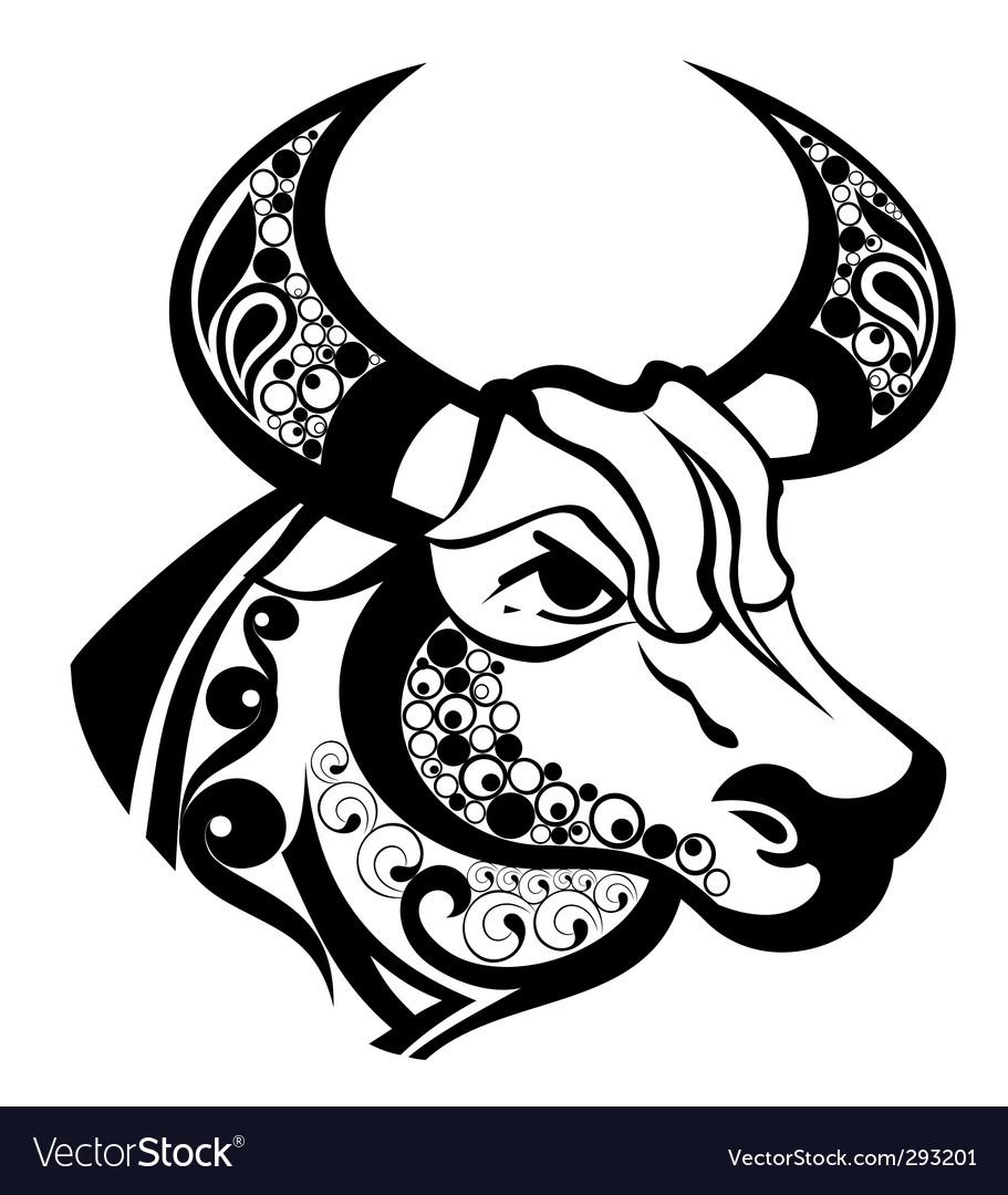 Zodiac Signs Taurus Royalty Free Vector Image Vectorstock