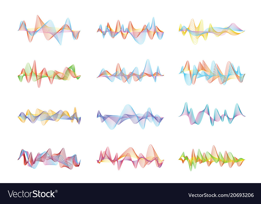 Abstract sound waves voice or music digital vector image