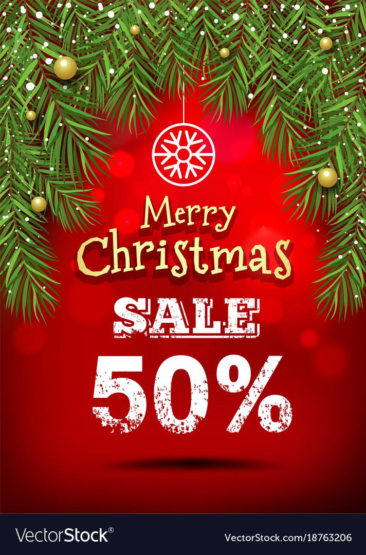Christmas Banner.Merry Christmas Banner Sale Design