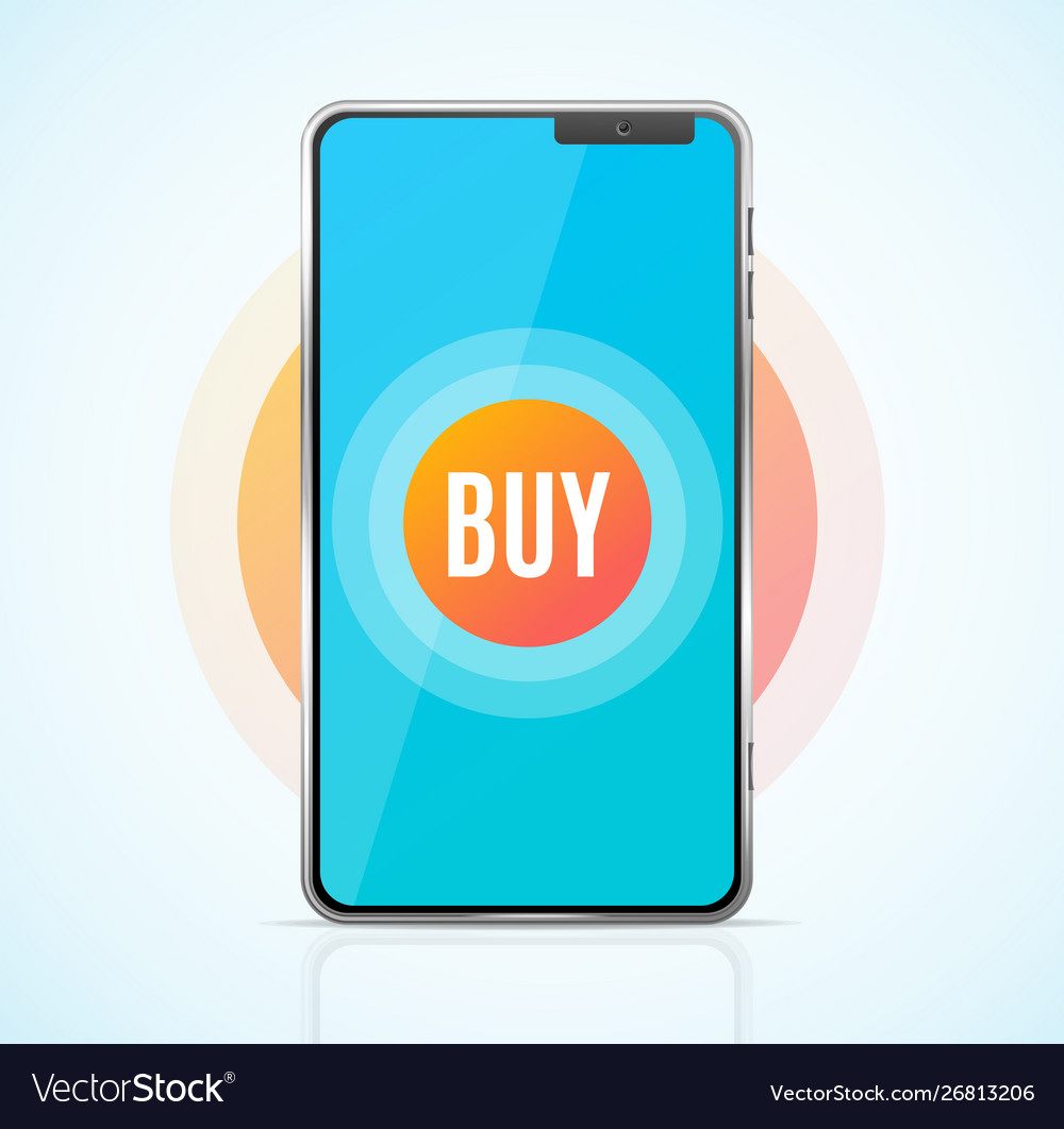 Realistic 3d detailed buy ecommerce app concept