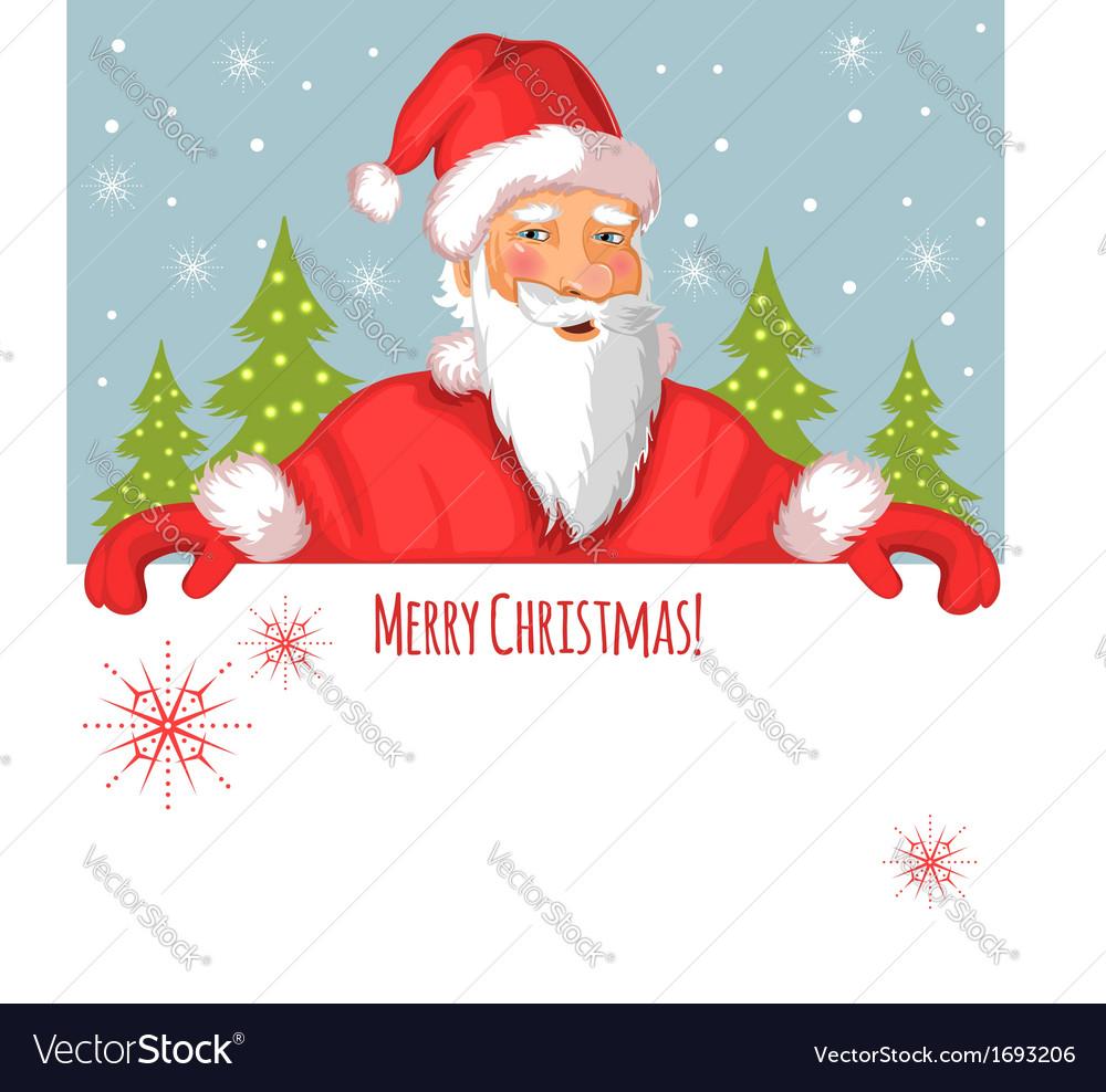 Santa Claus With Christmas Greetings Royalty Free Vector
