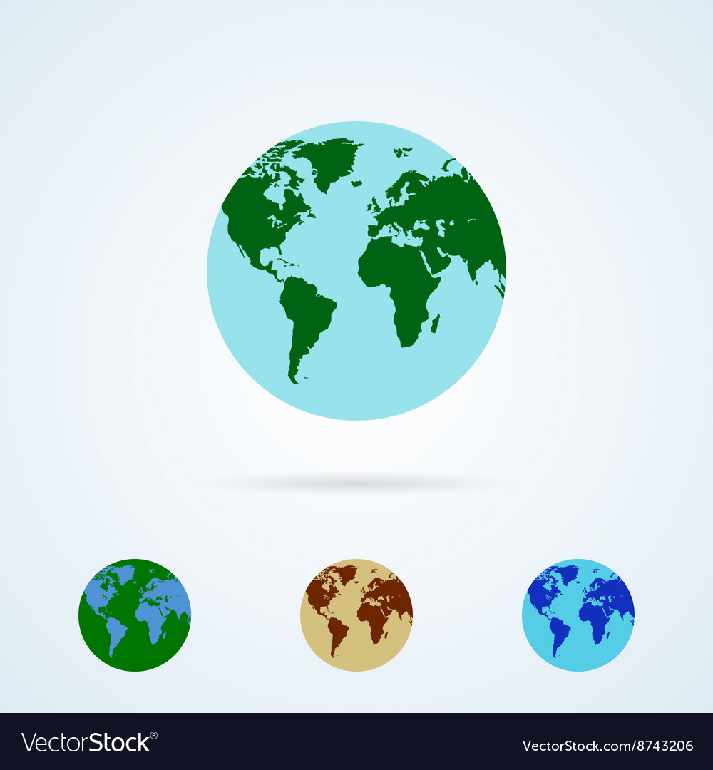 Set from Colorful Globe Icons
