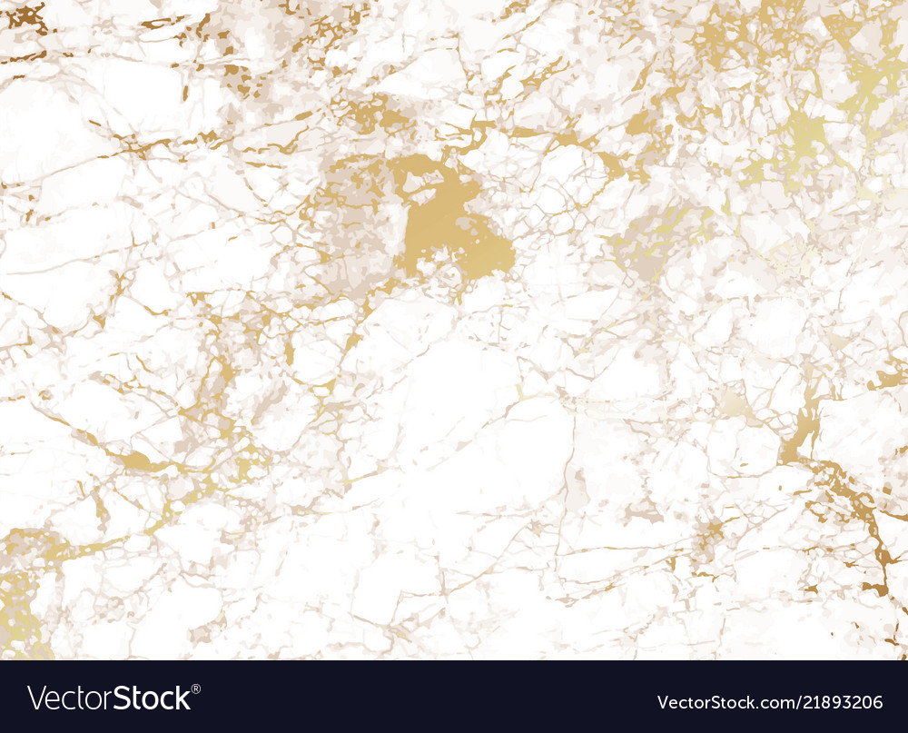 White marble background with golden texture