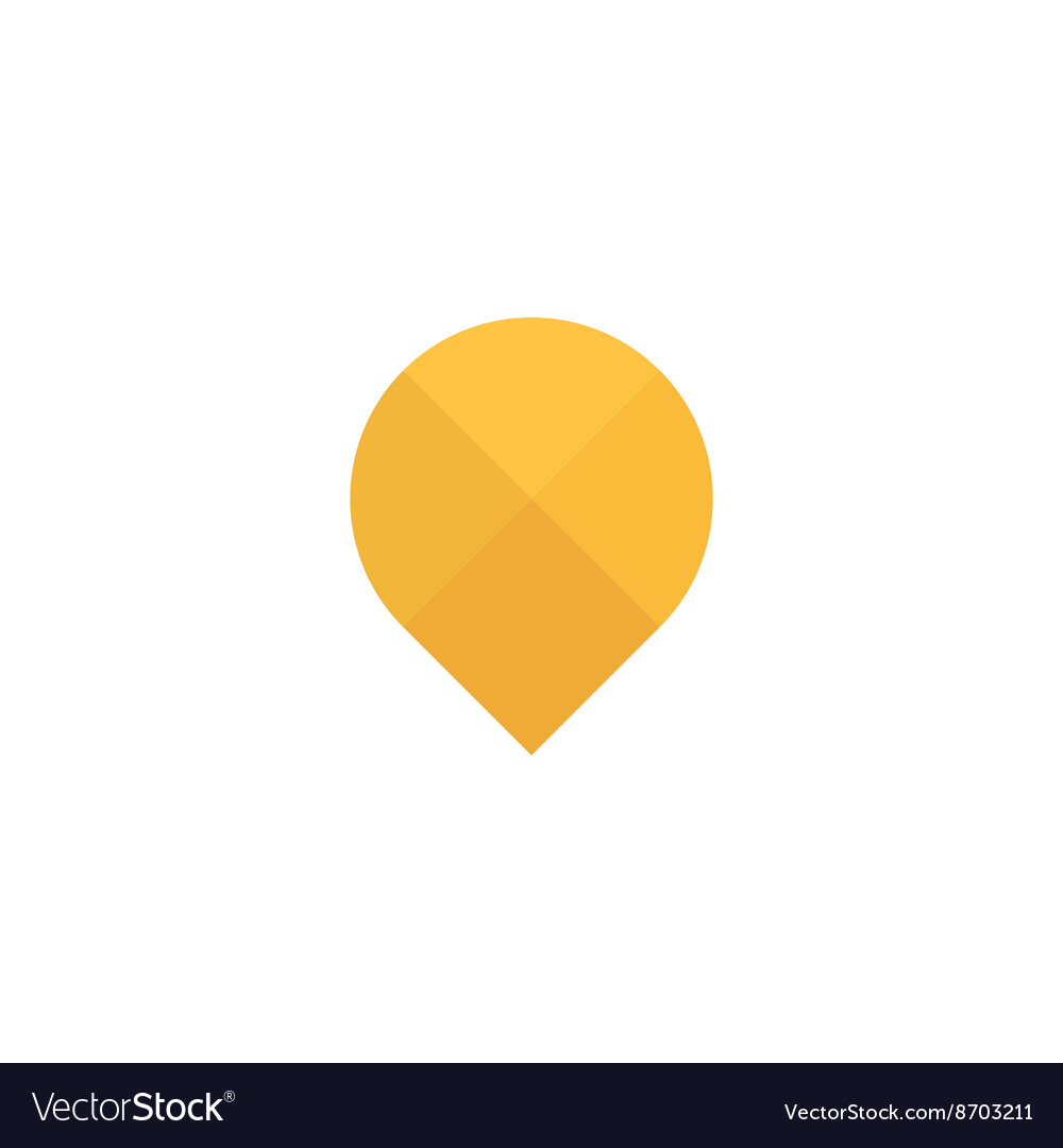Abstraction yellow sign gps into flat style