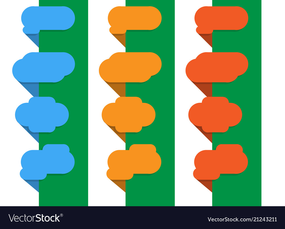 Bright and colorful banners in the style of flat vector image