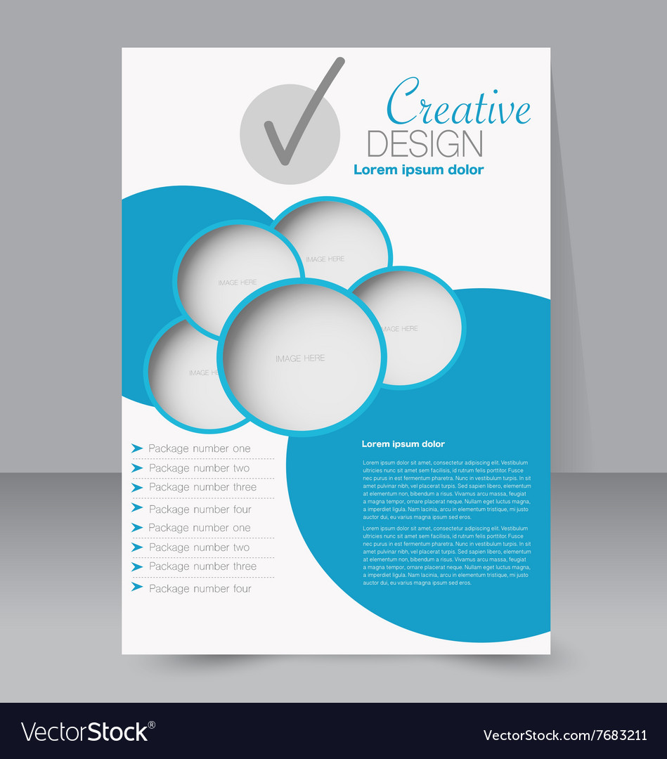 Azure Flyer Template | Brochure Design Flyer Template Editable A4 Poster Vector Image