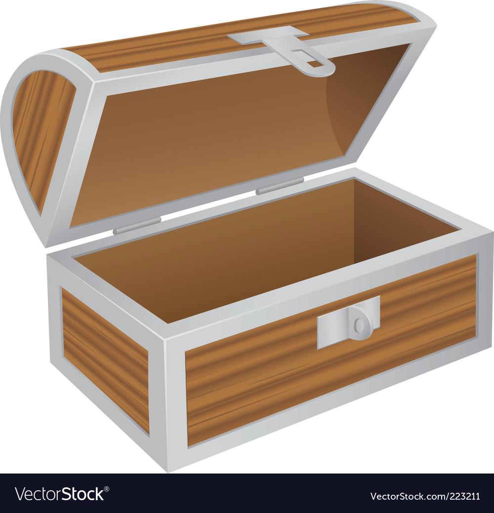 Empty chest vector image