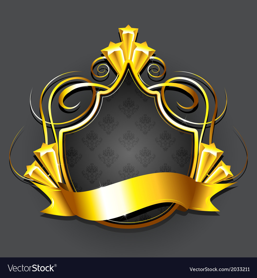 Golden Royal Badge vector image
