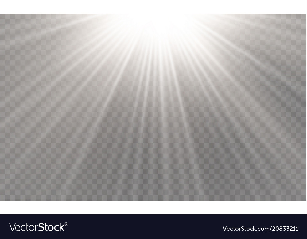 Light flare special effect with rays of light and