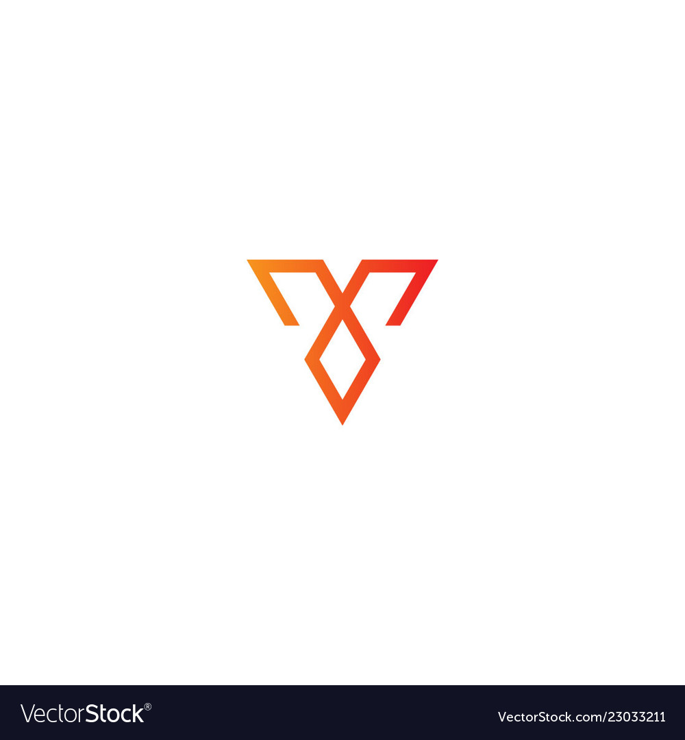 Line triangle geometry logo