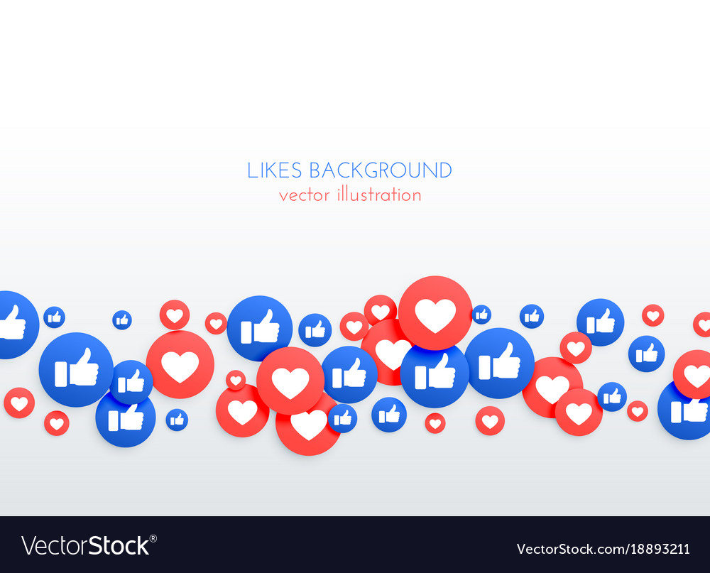 Social network like thumb up and heart icons