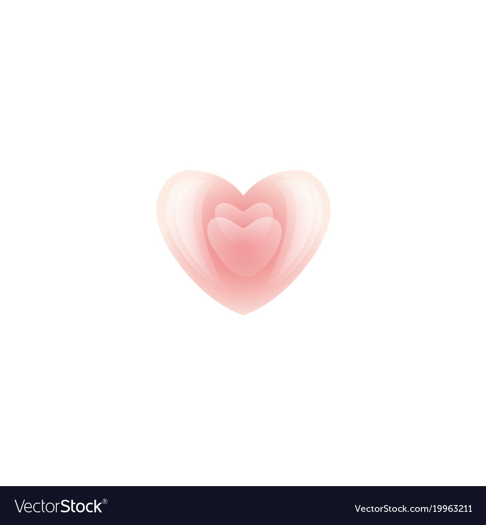 Valentines day light pink heart icon