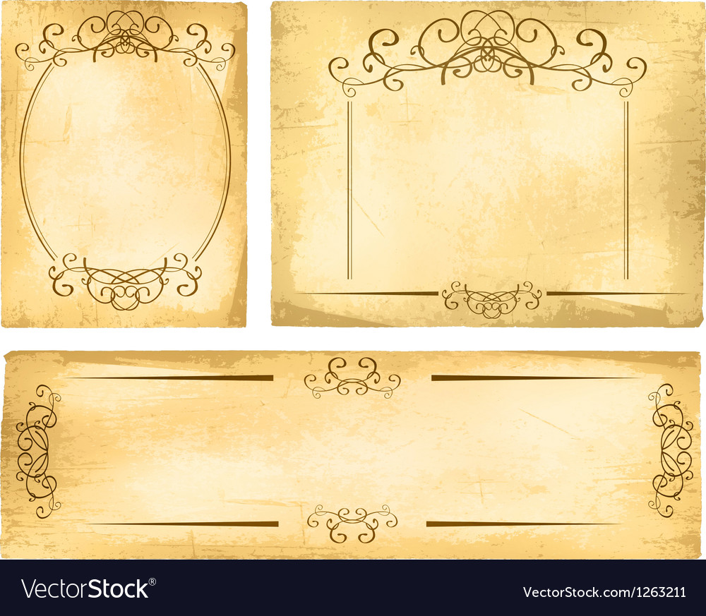 vintage paper border collection royalty free vector image