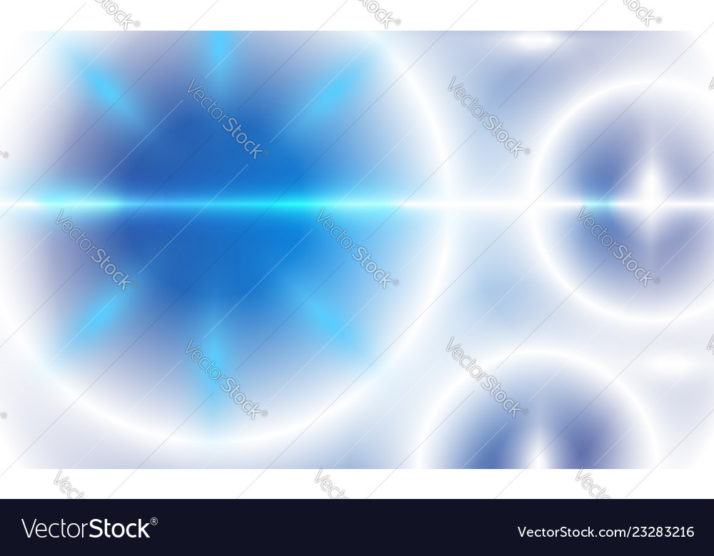 Abstract ufo circle blurred blue sky background