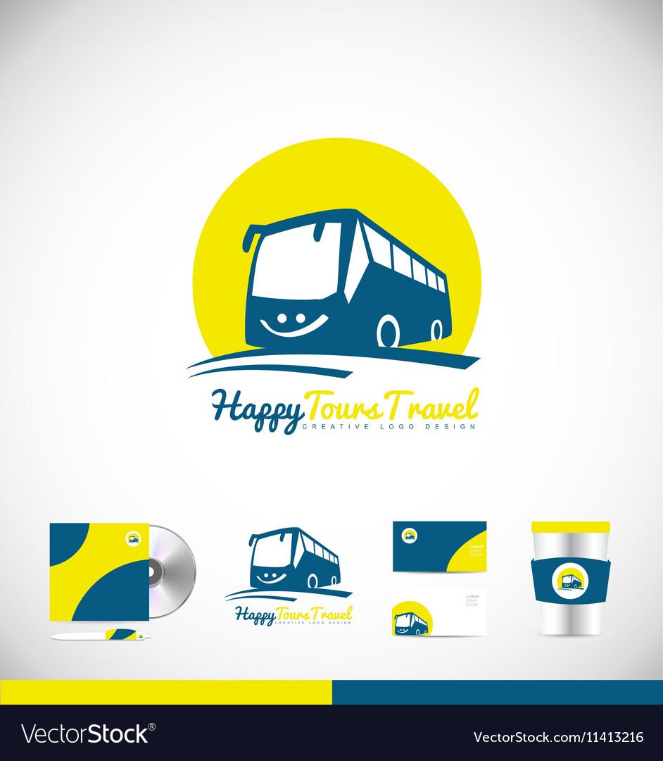 bus logo icon design royalty free vector image