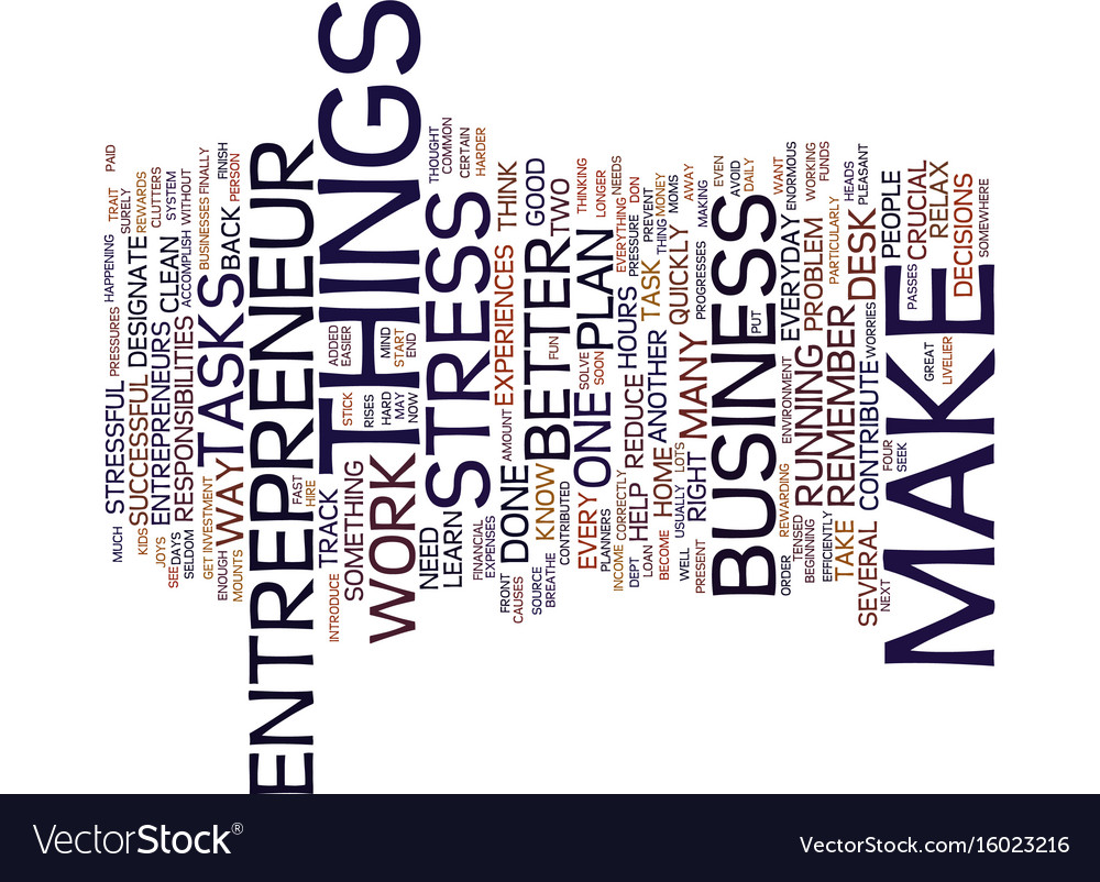 Entrepreneur website text background word cloud vector image
